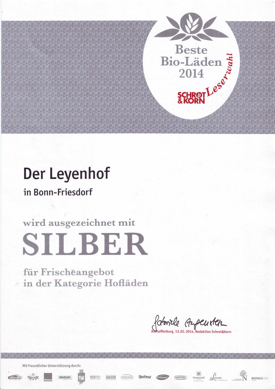 Silber-Auszeichnung für Frischeangebot