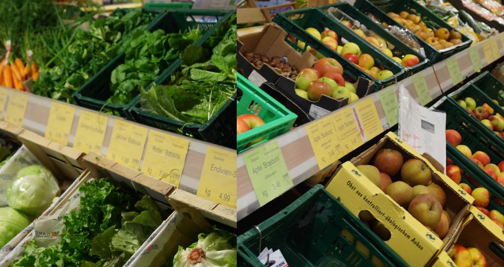 Die Obst -und Gemüseauswahl
